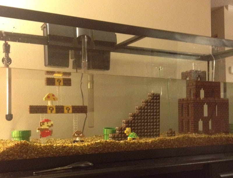 super mario fish tank aquarium 8 This Super Mario Fish Tank is Awesome