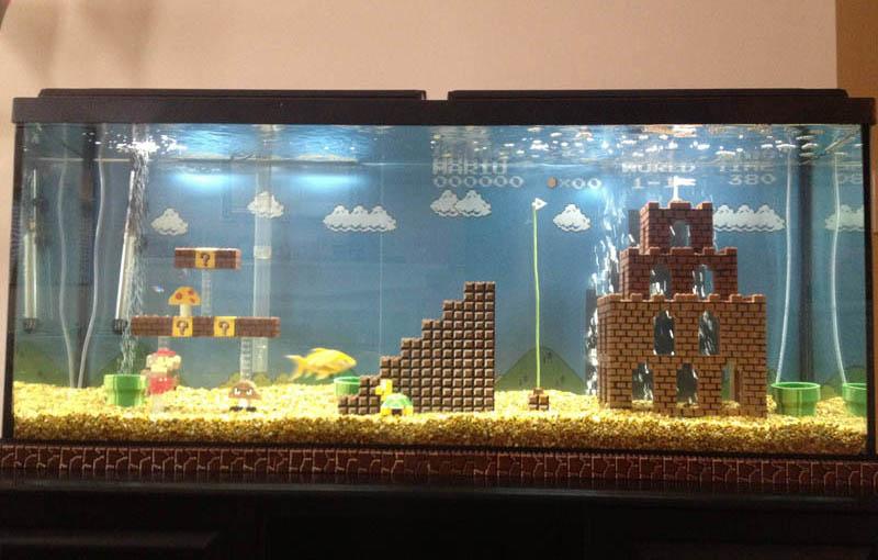 super mario fish tank aquarium This Super Mario Fish Tank is Awesome