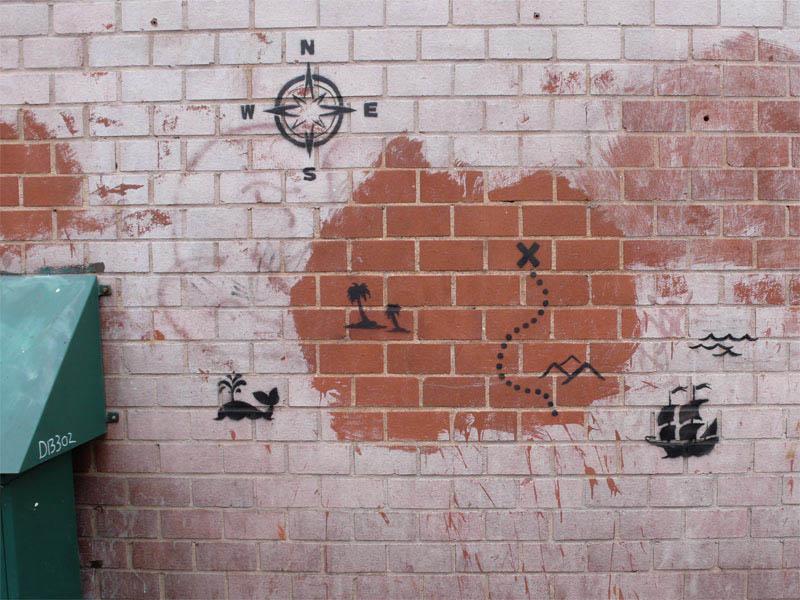 treasure map street art banksy 10 Latest Artworks from Banksy