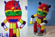 Creative Mom Turns Kids Drawings into Plush Toys
