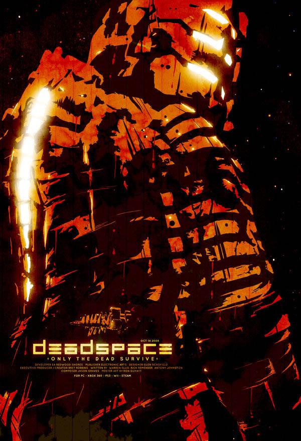 video game movie posters dead space ron guyatt 14 Creative Video Game Inspired Movie Posters