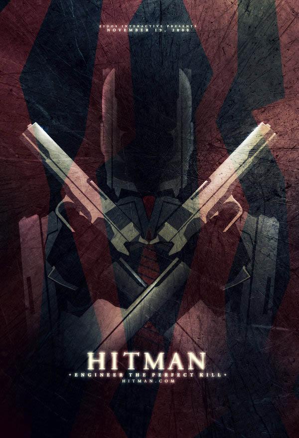 video game movie posters hitman ron guyatt 14 Creative Video Game Inspired Movie Posters