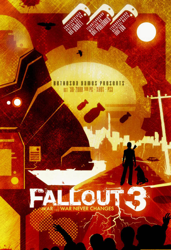 video game movie posters ron guyatt fallout 3 14 Creative Video Game Inspired Movie Posters