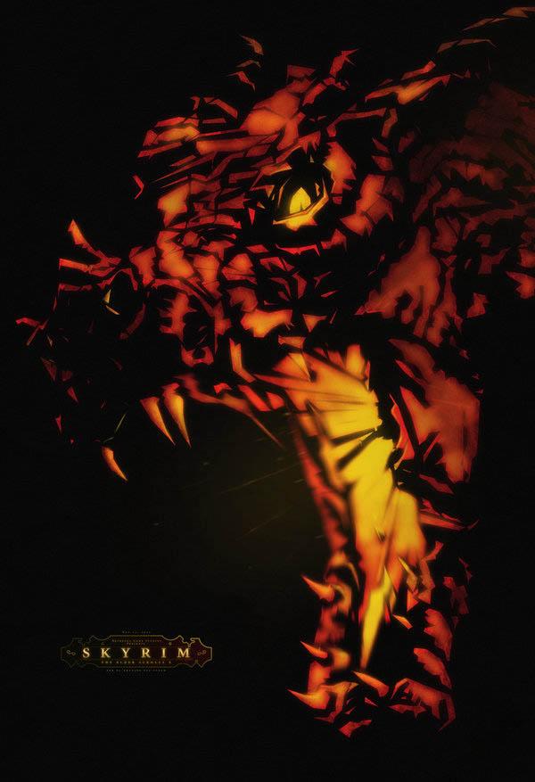 video game movie posters ron guyatt skyrim 14 Creative Video Game Inspired Movie Posters