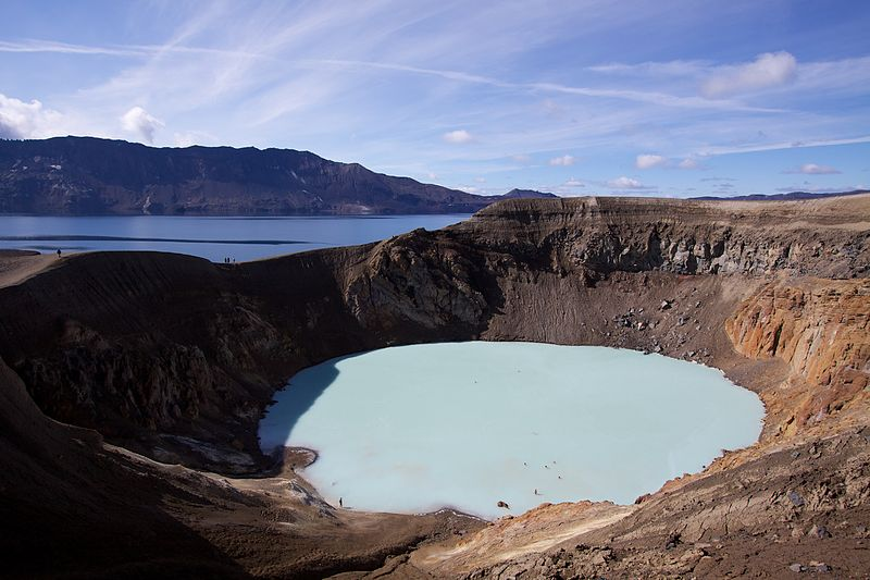 viti geothermal crater lake at askja iceland 15 of the Most Beautiful Crater Lakes in the World
