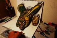 Mind-Blowing 3D Pencil Drawings by Nagai Hideyuki