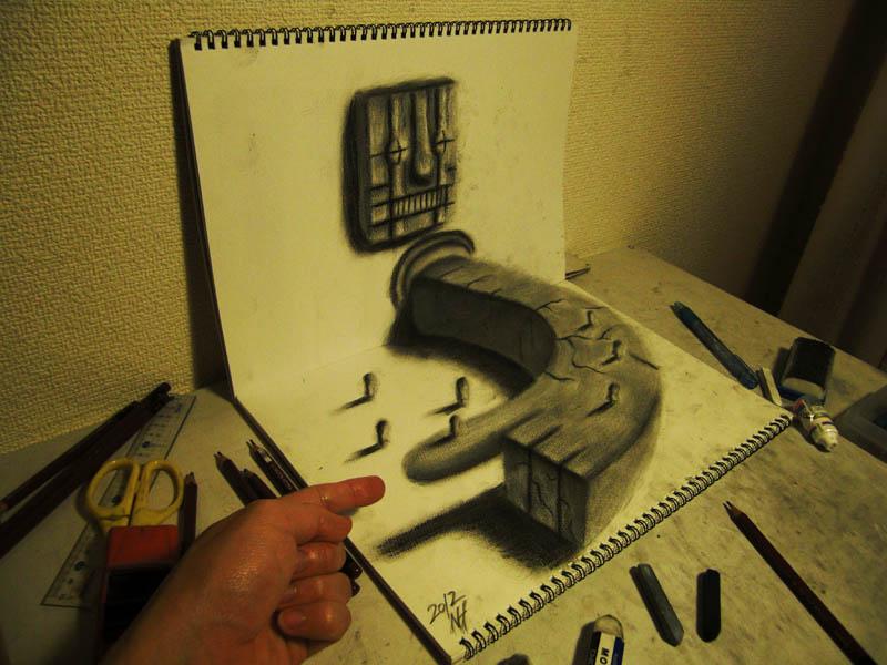 3d art of hand touching artists hand