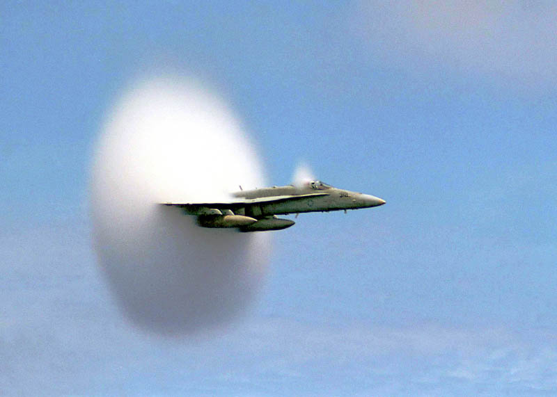 airplane breaking the sound barrier 2 21 Epic Photos of the Red Bull Stratos Space Jump