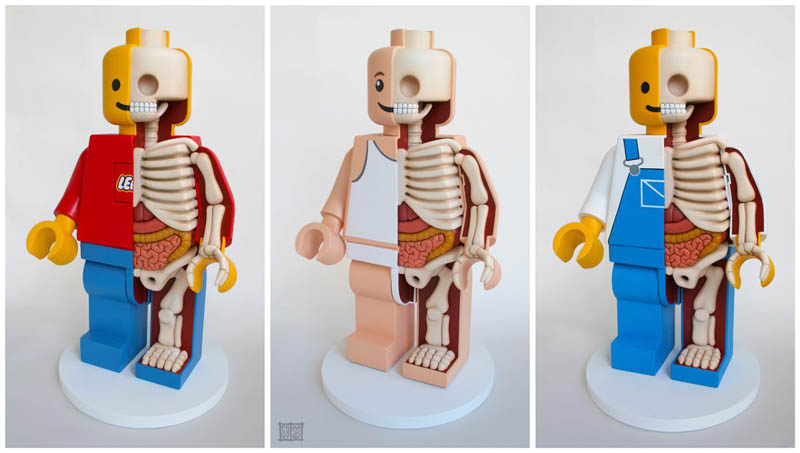 anatomy of a lego man jason freeny 4 Builders Recreate the Bat Cave Using 20,000 Pieces of LEGO