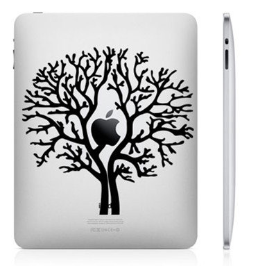apple tree funny creative ipad decal 33 Creative Decals for your iPad
