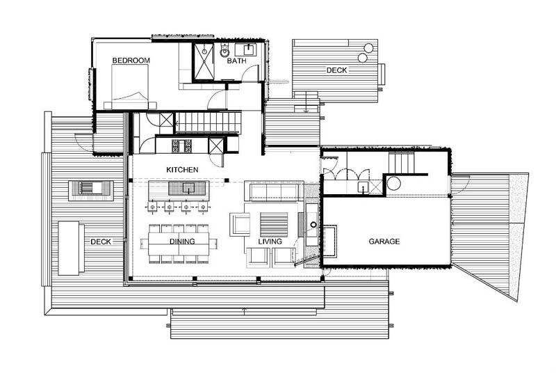 floor plans for under pohutukawa house by herbst architects