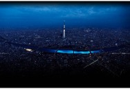 100,000 Blue Orbs Floating Down a River in Tokyo