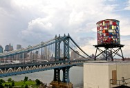Picture of the Day: Colorful Watertower Sculpture in Brooklyn