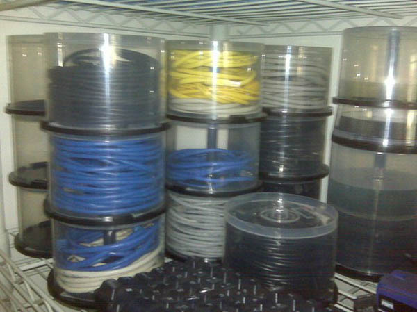 cd cases uses to store and organize cables