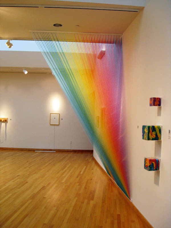 color spectrum thread art gabriel dawe 1 6 Amazing Color Spectrums Made from Thread