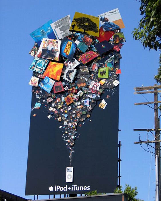 billboard for apple ipod