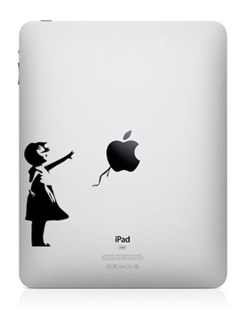funny creative ipad decal banksy girl 33 Creative Decals for your iPad