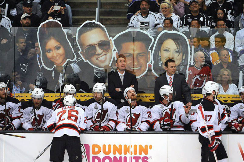 jersey shore los angeles kings new jersey devils big heads The Shirk Report   Volume 165