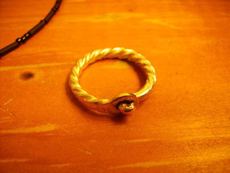 ring made from sterling silver
