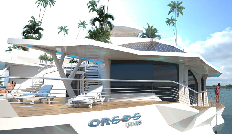 man made floating island boat orsos 2 Orsos: The Moveable Floating Island
