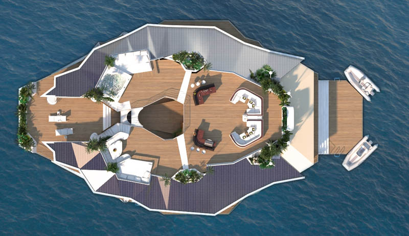 man made floating island boat orsos 32 Orsos: The Moveable Floating Island
