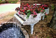 Picture of the Day: Old Piano Turned Into Outdoor Fountain