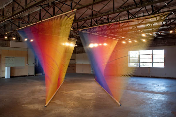 plexus 4 by gabriel dawe colored thread installation 3 6 Amazing Color Spectrums Made from Thread