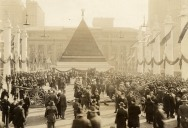 Picture of the Day: Giant Pyramid of German Helmets from WWI in New York, 1918