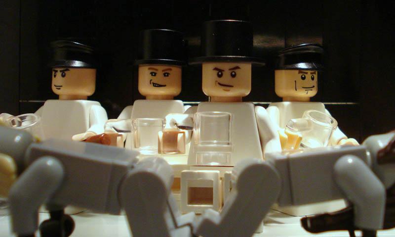 recreating movie scenes from lego alex eylar clockwork orange Recreating Famous Movie Scenes with Lego