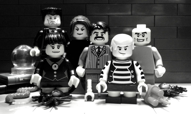 recreating movie scenes from lego alex eylar the addams family Recreating Famous Movie Scenes with Lego