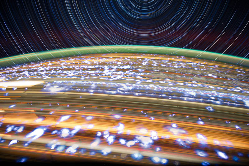 star trails seen from space iss nasa don pettit 12 21 Star Trails Captured from Space