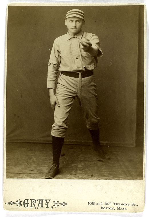dan casey baseball player showing camera the baseball in his hand