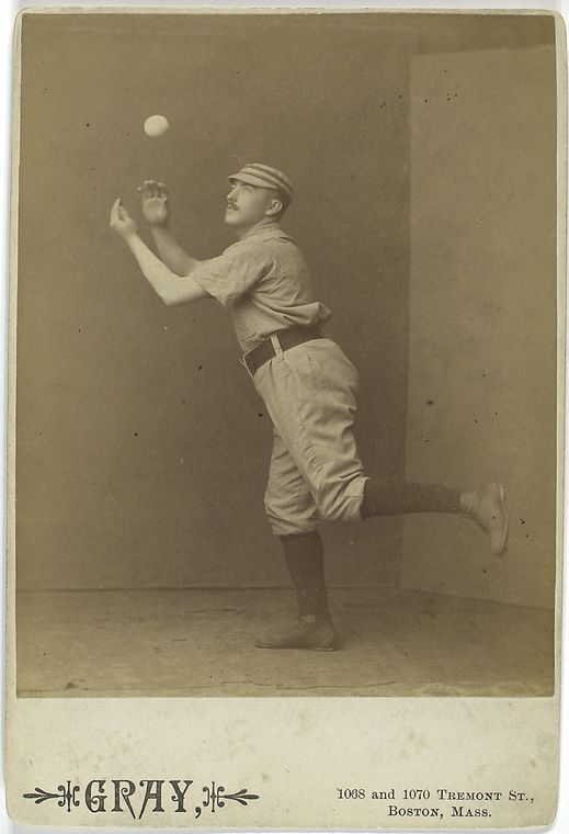 Jim Fogarty, Philadelphia Quakers catching a ball with one leg up