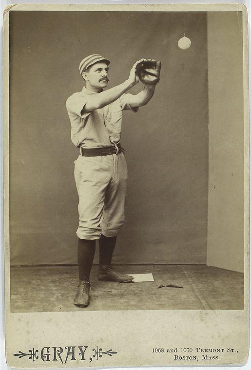 sid farrar catching a baseball
