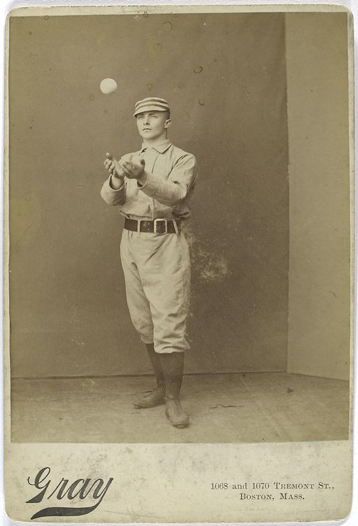 Tommy McCarthy, Boston Reds catching a baseball non chalantly