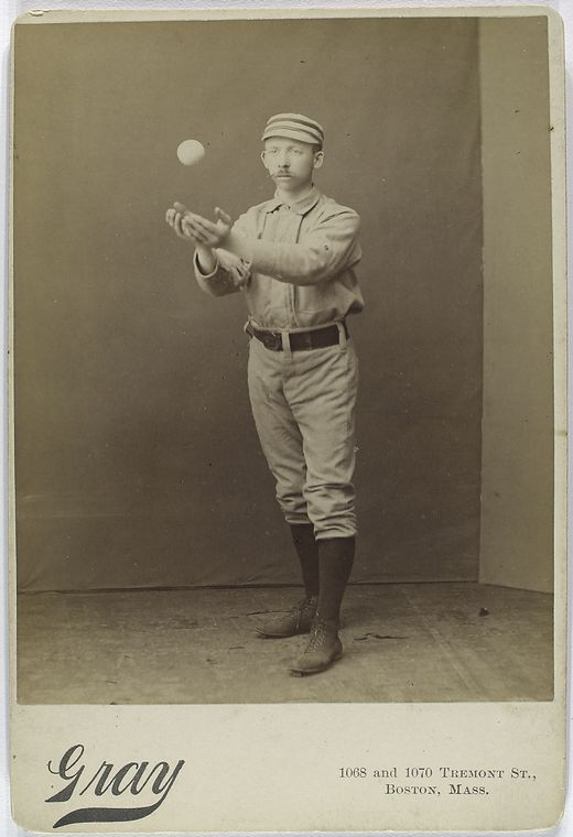Arthur Irwin, Philadelphia Quakers about to catch a baseball barehanded