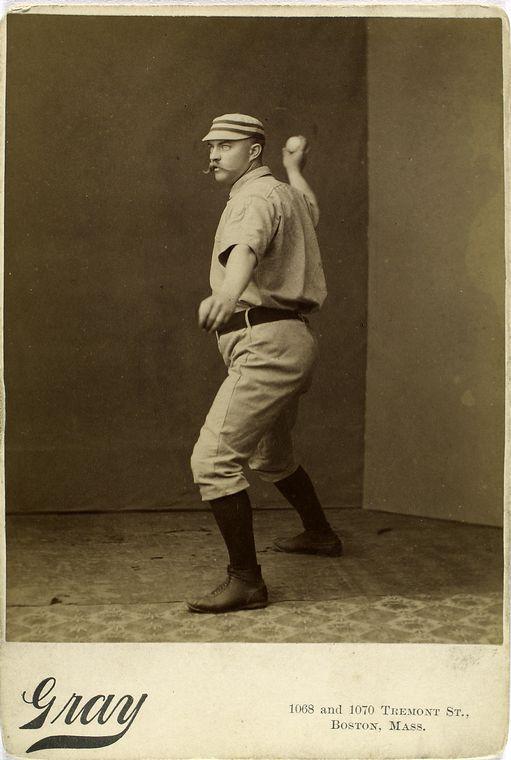 george wood mid throw baseball photo