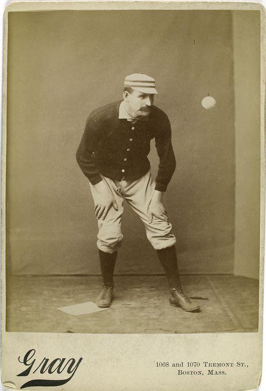 joe mulvey baseball player staring at baseball coming towards him