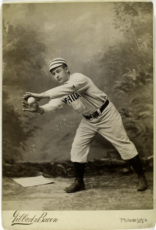 george pinkney baseball player catching a ball weird background