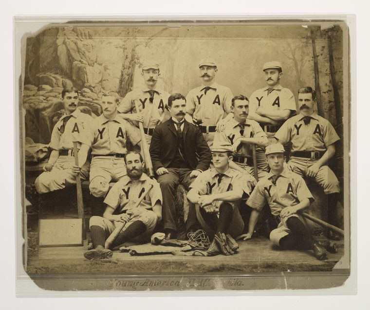 Young American of Philadelphia, Y.A baseball team photo
