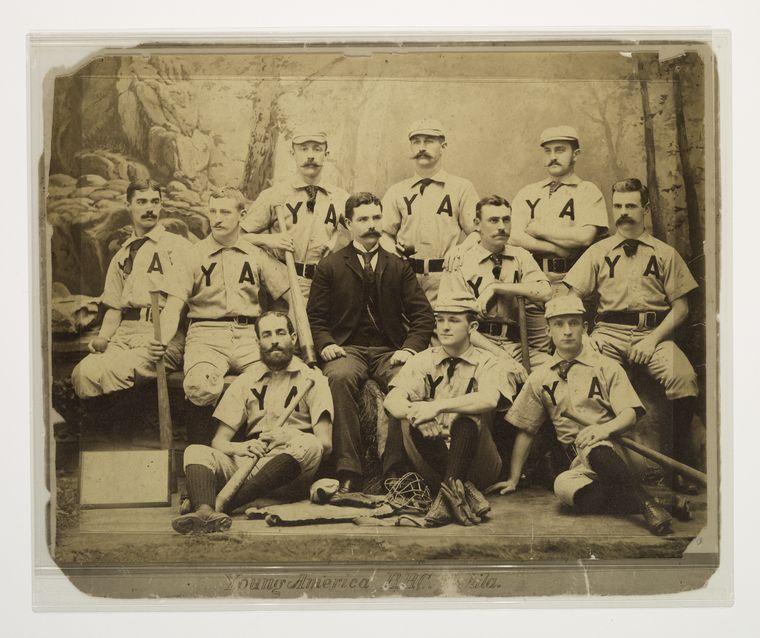 Young American of Philadelphia, Y.A baseball team photo