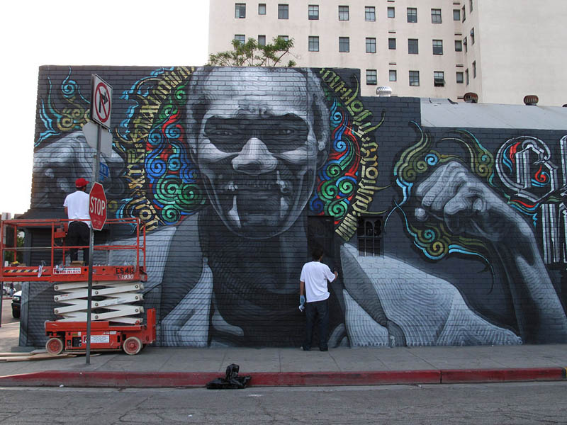 street art murals by el mac 7 Unbelievable Street Art Murals by El Mac