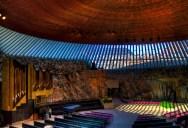 Helsinki Rock Church Built Inside a Giant Piece of Granite