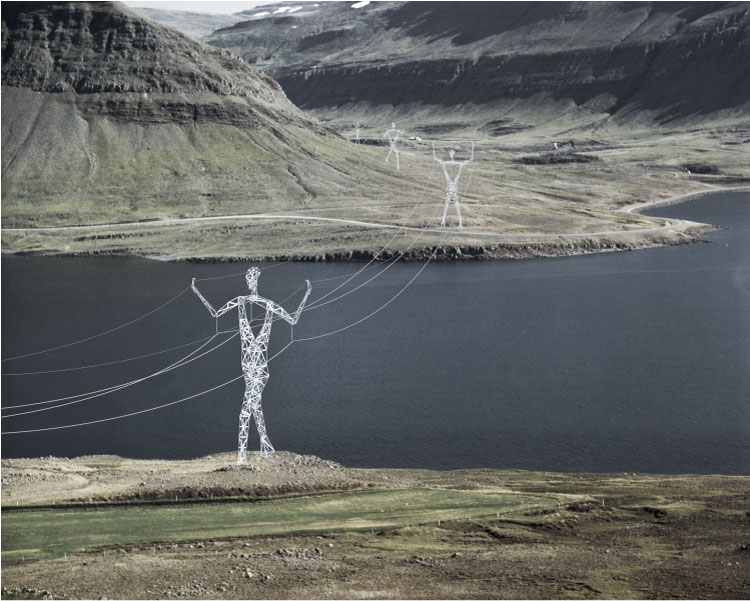 Turning Transmission Towers into Giant People