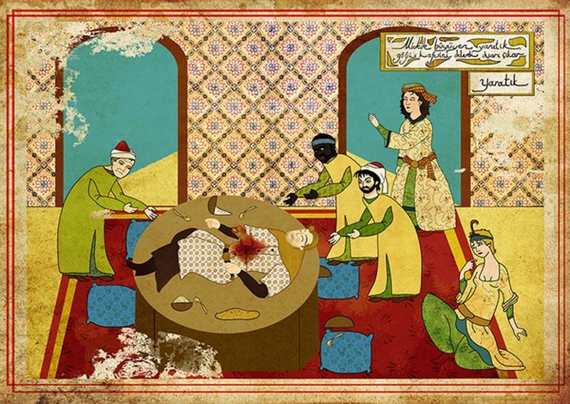 alien movie as ottoman motif 11 Classic Movie Scenes as Ottoman Motifs