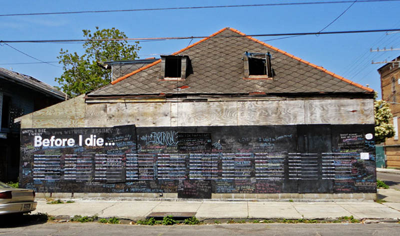 before i die i want to street art project by candy chang 10 The Before I Die Project