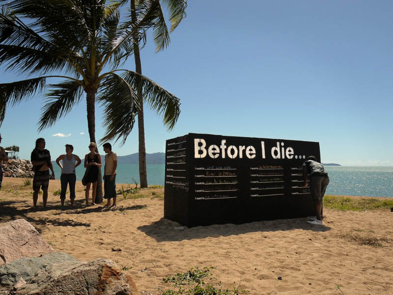 before i die project on the beach