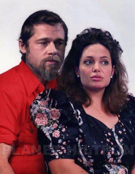 brangelina brad and angelina photoshopped funny celebrity make under 18 Hilarious Celebrity Make Unders Using Photoshop