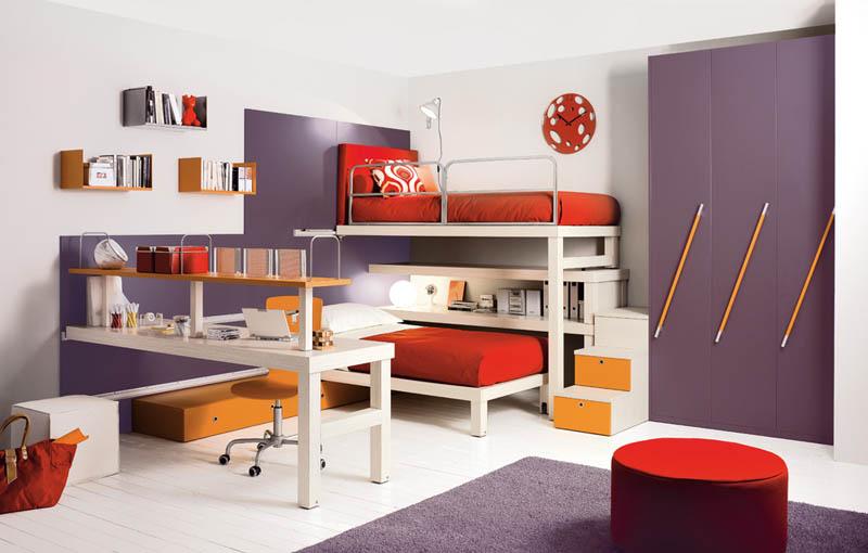bunk beds with desk unit
