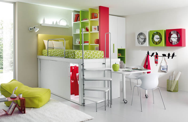 efficient space saving furniture for kids rooms tumidei spa 4 12 Space Saving Furniture Ideas for Kids Rooms